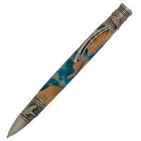 PSI Dreh - Kugelschreiber Fly Fishing zinnfarben
