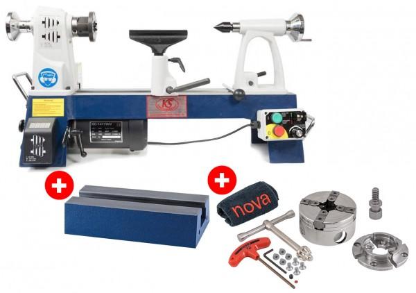 Tisch-Drechselbank Midi 1 - Paketpreis inkl. NOVA G3 Pro Tek Spannfutter & 280 mm Bettverlängerung