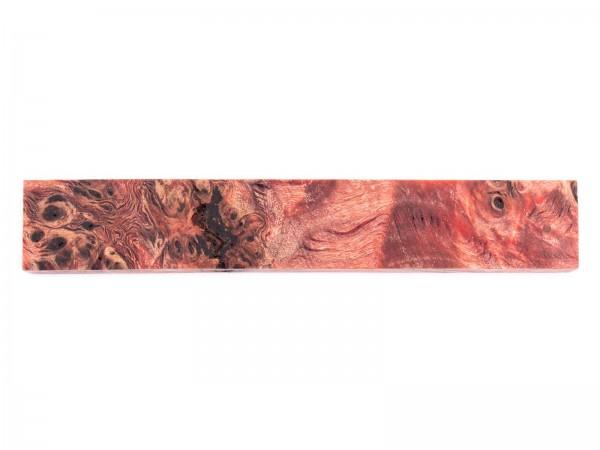 Penblank aus stabilisiertem Maserholz rot