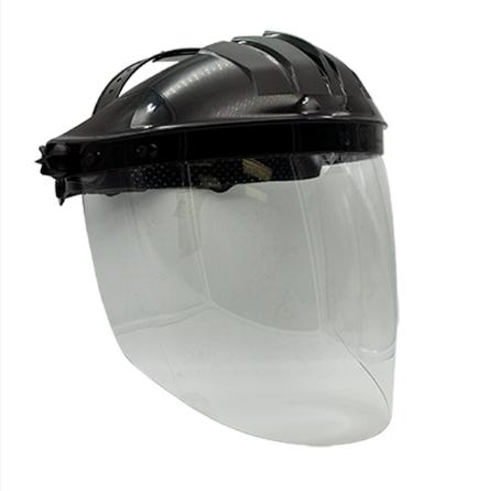 Gesichtsschutz mit Kunststoffvisier (Polycarbonat)