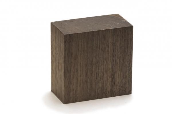 Nussbaum Querholzkantel zum Herstellen von Paraffinbrenner Schalen