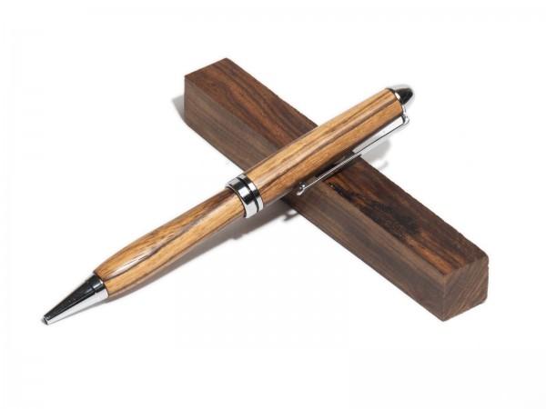 Dreh - Kugelschreiber Euro, chromfarben