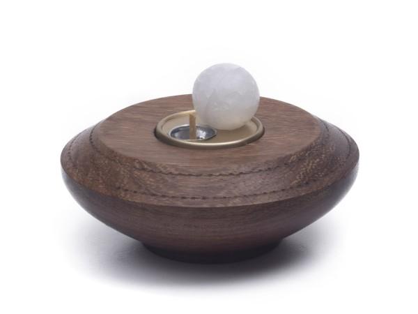 Paraffin-Teelicht für 1 Paraffinkugel, messingfarben
