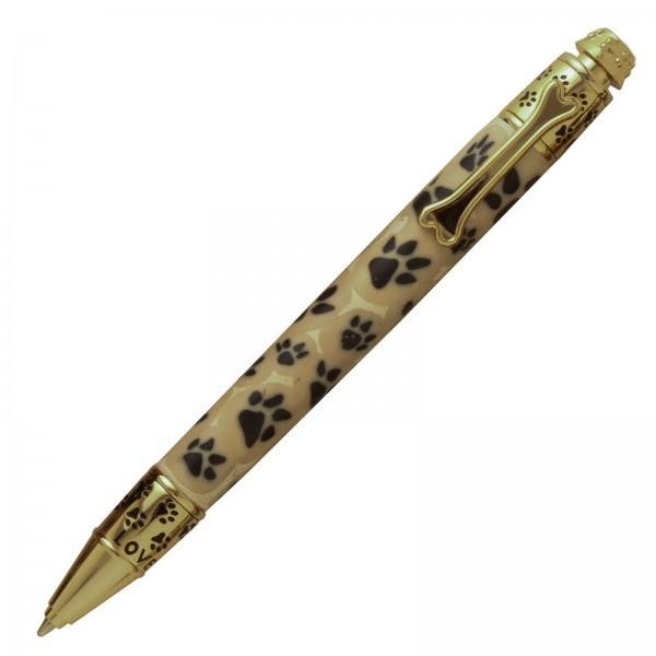 Druck - Kugelschreiber Dog goldfarben