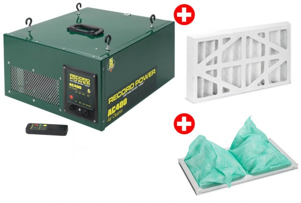 Record Power AC400 Luftfiltersystem - Set