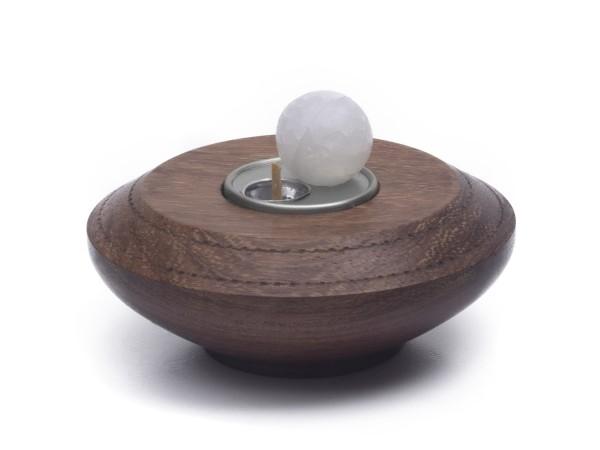 Paraffin-Teelicht für 1 Paraffinkugel, silberfarben
